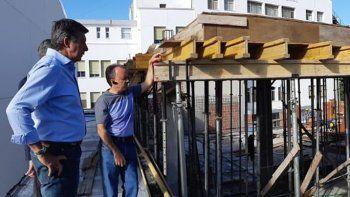 funcionarios de nacion recorrieron la obra de ampliacion del cabin