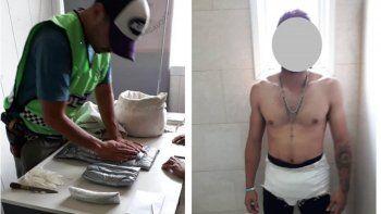 Los narcotraficantes ocultaban la droga en calzoncillos adaptados para trasladar la cocaína.