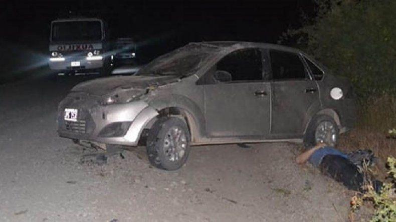 Murió un hombre tras volcar en Sierra Colorada