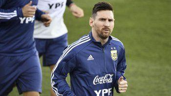 Lionel Messi se pone a punto para los próximos amistosos.