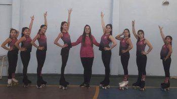 La escuela de patín artístico Olas del Sur representó de la mejor manera a Comodoro Rivadavia.