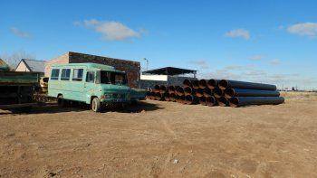 recuperaron canos de construccion robados a 40 kilometros de comodoro
