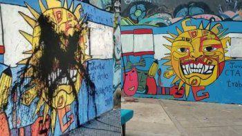 polemica por el mural del dia de la memoria
