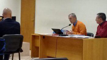 Abel Reyna junto a su abogado defensor Guillermo Iglesias.