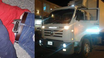 Transportista detenido por robar un celular y una bolsa de alimentos armado