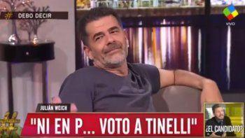 Julián Weich: ni en pedo voto a Tinelli