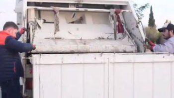 Municipales paralizaron actividades y el intendente salió a recolectar la basura