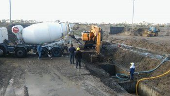 La construcción del puente que unirá Caleta Córdova con Kilómetro 8.