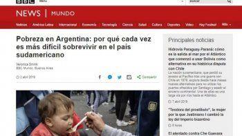 la bbc de londres publico un duro informe sobre la actualidad de argentina