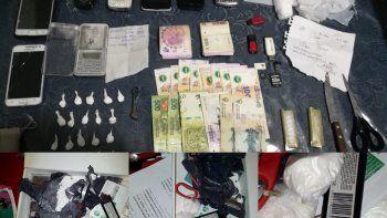 Las 450 dosis de cocaína estaban listas para ser comercializadas