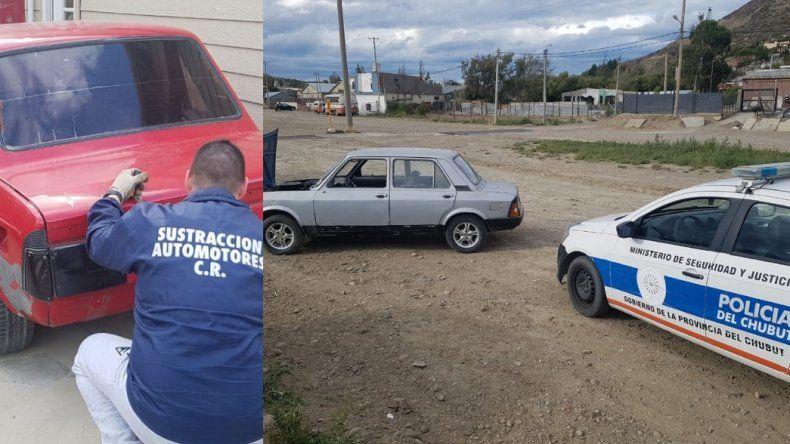 En un taller de Laprida secuestran dos vehículos