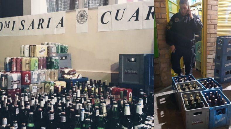 Secuestran más de 700 litros de alcohol clandestino