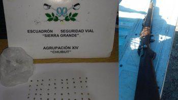 gendarmeria secuestro un arma y semillas de marihuana