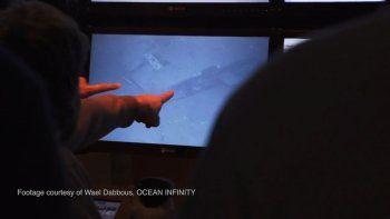 familiares de victimas comenzaron a ver las imagenes del submarino