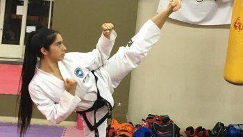 con 17 anos micaela representa a chubut en el mundial de taekwondo