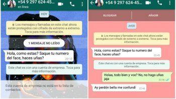 whatsapp misterioso: ¿te llego el mensaje de romy?