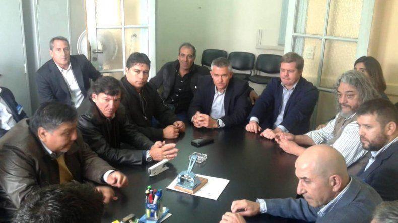 La fracasada reunión paritaria que se realizó ayer en Buenos Aires.