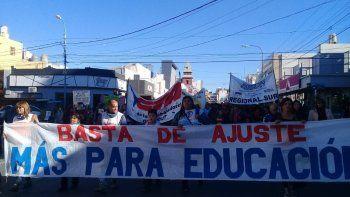 La manifestación que se realizó ayer en el centro de Comodoro Rivadavia.