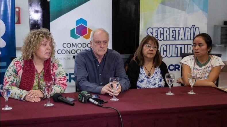 La conferencia de prensa donde se lanzó el encuentro.