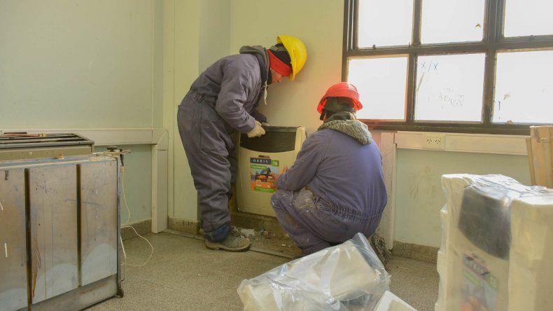 ATECh plantea que los trabajos de calefacción en las escuelas avanzan de manera muy lenta