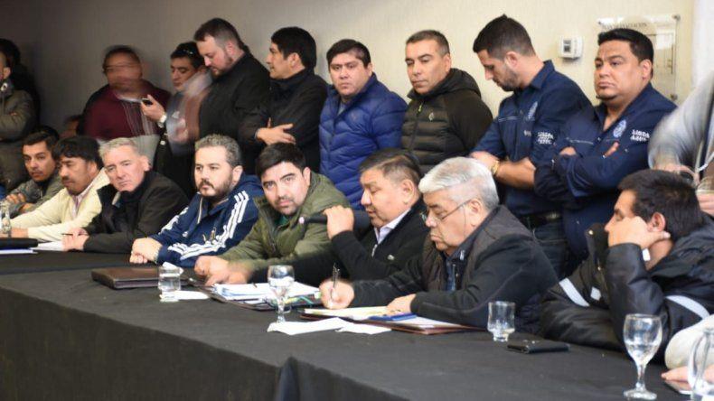 El secretario general del gremio encabezó ayer otro plenario de delegados sindicales.