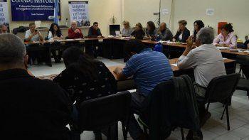 El plenario de secretarías generales que la CONADU Histórica realizó ayer en Buenos Aires.