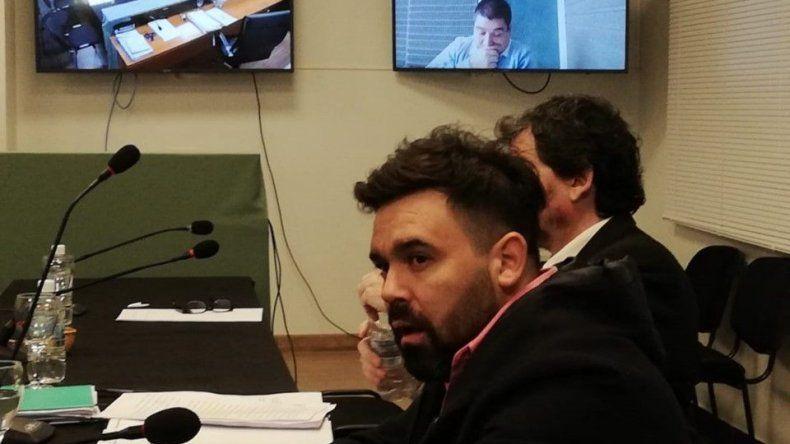 Claudio Dahhur durante la audiencia de ayer.