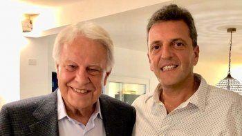 Massa se reunió con Felipe González