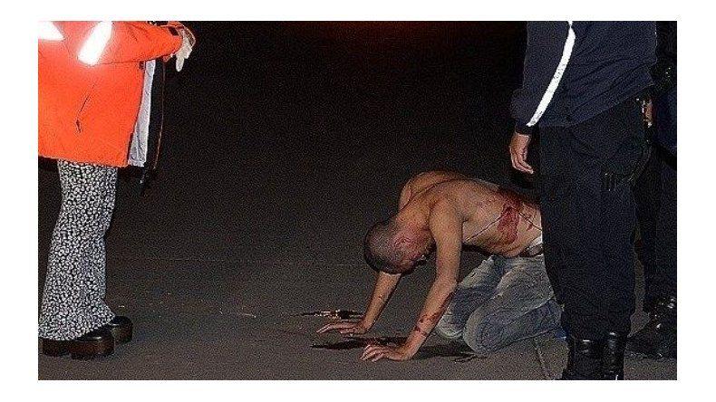 El joven apuñalado fue trasladado al Hospital Zonal
