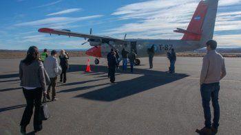 LADE reanudó esta semana en el aeropuerto de Perito Moreno sus vuelos con Twin Otter.