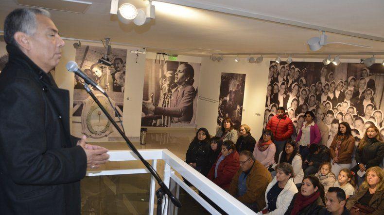 Jorge Soloaga al referirse al legado de Eva Perón.