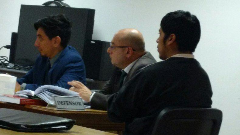 Martín Napal en una anterior audiencia. Ayer compareció mediante videoconferencia desde Comodoro Rivadavia.