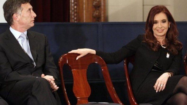 CFK bajó imagen negativa, mientras la de Macri estalló