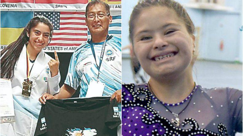 Navarro pidió a la Legislatura reconocer a las atletas Caamaño y Gallardo
