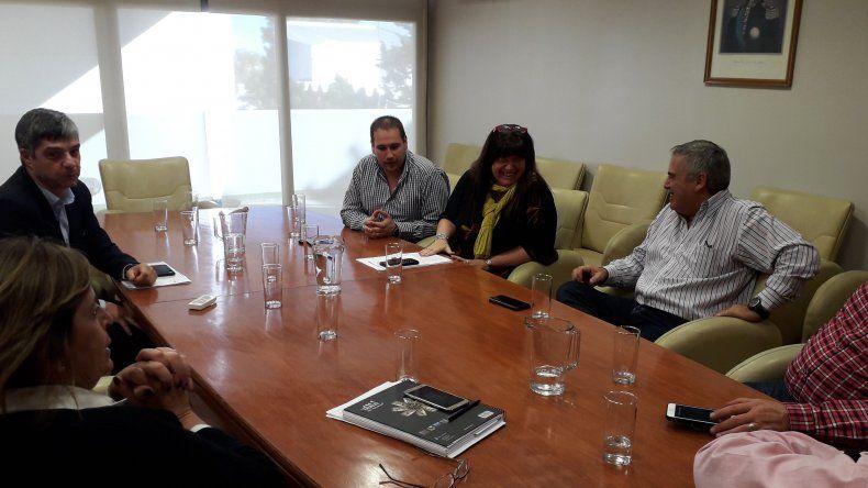 El encuentro de diputados con el ministro de Infraestructura.