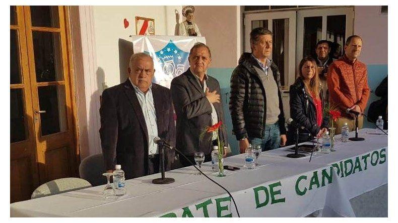 El debate de candidatos a la Gobernación que se desarrolló ayer en el Colegio María Auxiliadora de Rawson.