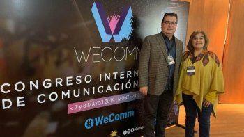 Nelson Aguilar y Sandra Díaz, directivos de la FM Frecuencia Patagonia, asistieron al Congreso Internacional de Comunicación Digital que se desarrolló en Montevideo.
