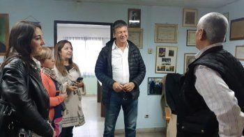 Gustavo Menna durante su visita a la Fundación Padre Corti.