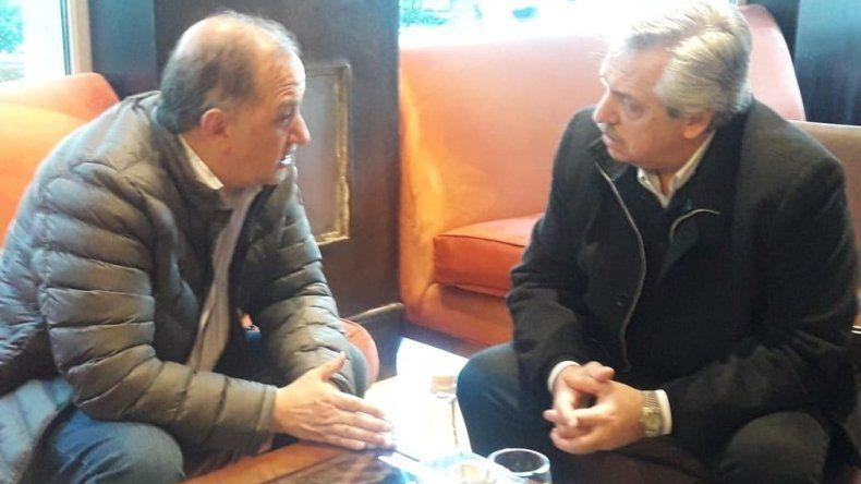 Alberto Fernández recibió a Carlos Linares en Río Gallegos