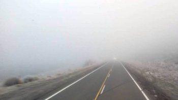 ¿viajas? calzada humeda y bancos de niebla en rutas