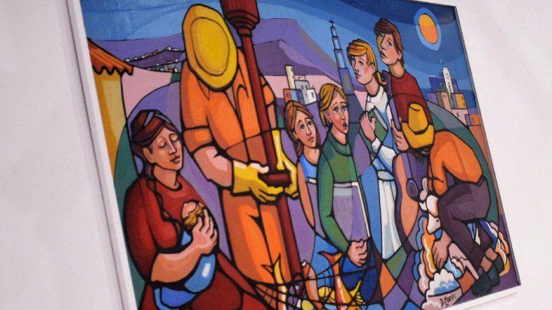 Una obra de Loli Morón se exhibe en el Centro Cultural