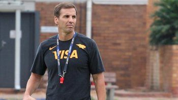 Gonzalo Quesada, entrenador de los Jaguares que mañana visitarán a Waratahs de Australia.