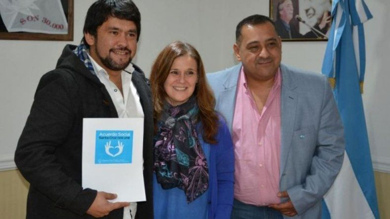 El diputado César Ormeño y el intendente Guillermo Mercado