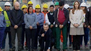 Macri protagonizó un insólito momento en la inauguración del Paseo del Bajo