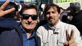 El concejal Mario Montiel –izquierda- pereció trágicamente en un accidente de tránsito. En la foto, junto al intendente Néstor Gonzales, quien resultó lesionado junto a otro edil, Leonardo Paradís.