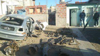 Secuestran 65 autopartes en un desarmadero clandestino