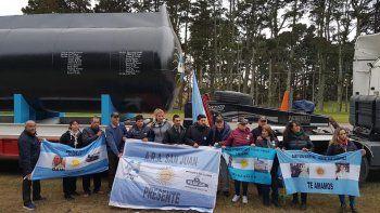 La réplica del ARA San Juan ya se encuentra en Mar del Plata
