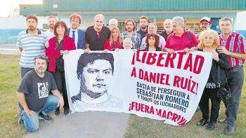 Una manifestación para pedir por la libertad de Daniel Ruiz.