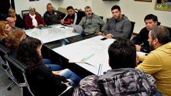 Los vecinalistas fueron recibidos por el intendente Prades, integrantes de su gabinete y el diputado Sergio Bucci.