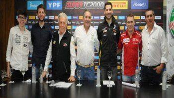 Los protagonistas de ayer durante la conferencia de prensa que se realizó por la quinta fecha del Super TC2000.